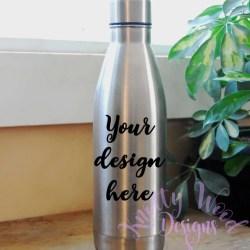 Stainless Steel Water Bottle Mockup Digital Download Etsy