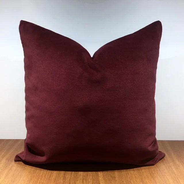 burgundy pillow etsy