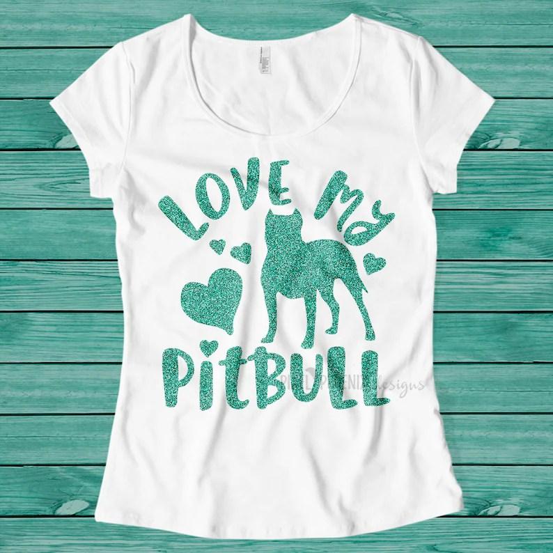 Download Love My Pitbull SVG Pitbull SVG American Bully Pitbull dog ...