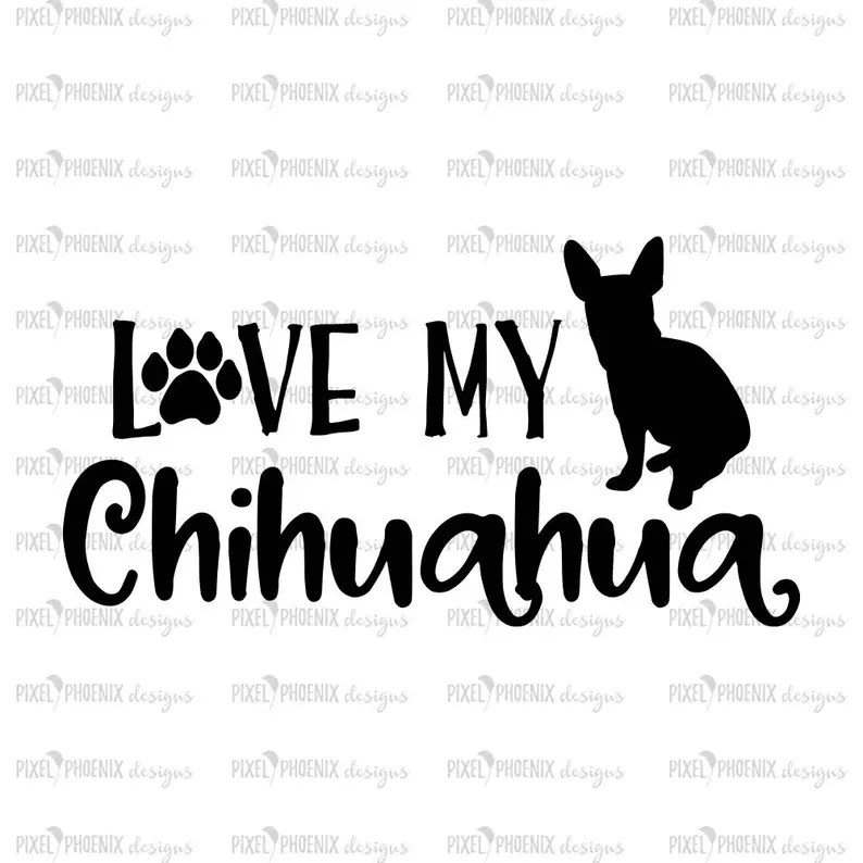 Download Chihuahua SVG Love my Chihuahua svg for Cricut vinyl | Etsy