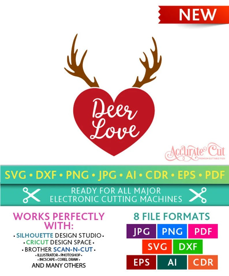Download Deer Love Svg Deer Love Cut Files Valentine's Day | Etsy