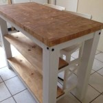 End Grain Kitchen Island Butcher Block Top With Seating For 2 3 Or 4 Rustic Wood Farmhouse Style Kitchen Table