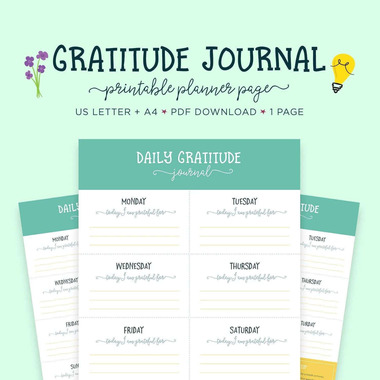 Printable Gratitude Worksheet