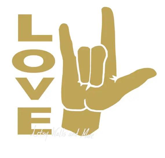 Download I love you sign language SVG clipart cut file svg png Jpg ...