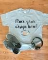 Men S Gray T Shirt Mockup Mens Grey Mockup Tshirt With Etsy