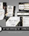 Complete Branding Kit Hang Tags Hair Bundle Wraps Social Etsy