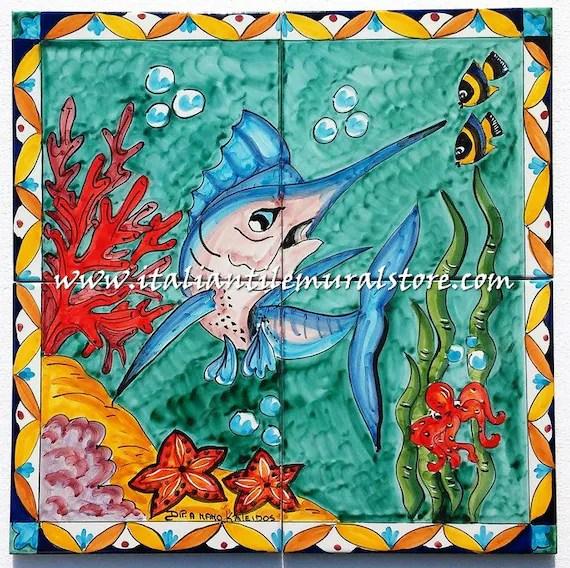 ceramic tile wall art mural art backsplash hand painted etsy