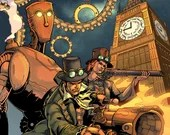 Pneumatic Cases - Issue #1 - Steampunk - Victorian Mystery - Comic Book - Indie Comics - Last Ember Press