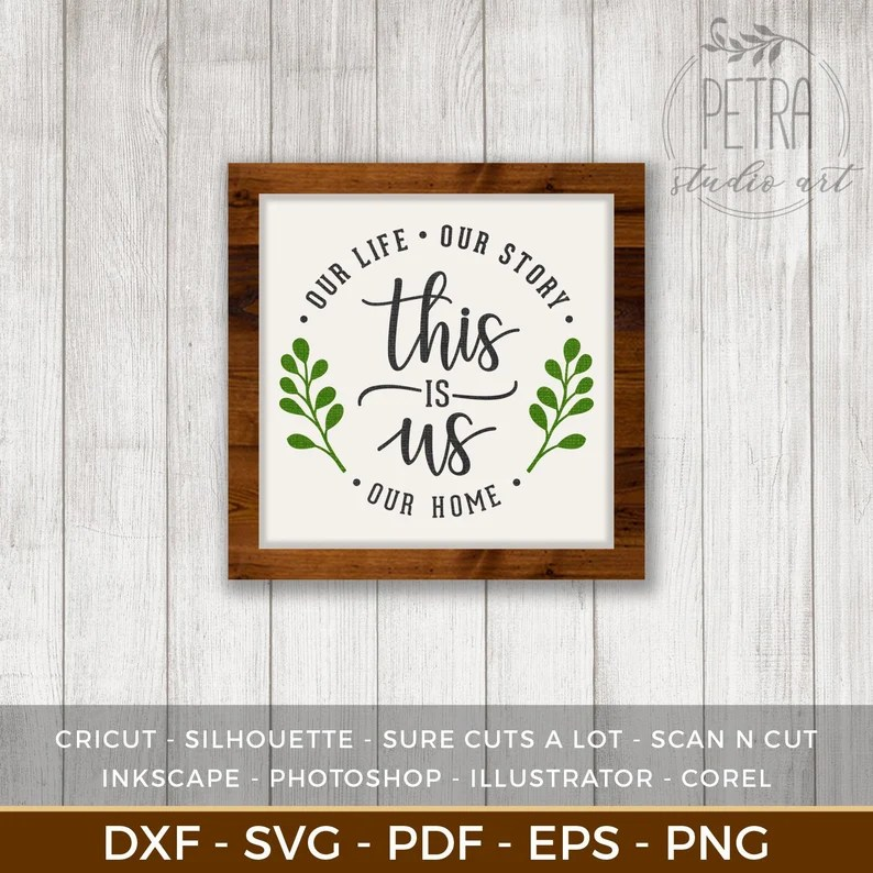 Download This is Us Our Story Our Love Our Home SVG Cut File for   Etsy