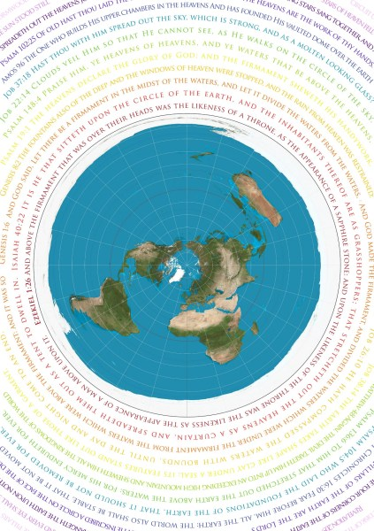 Flat earth map   Etsy Flat Earth Map   Azimuthel Equidistant with Biblical Scripture   A1 or A2