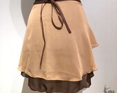 Ballet-wrap skirt double ...