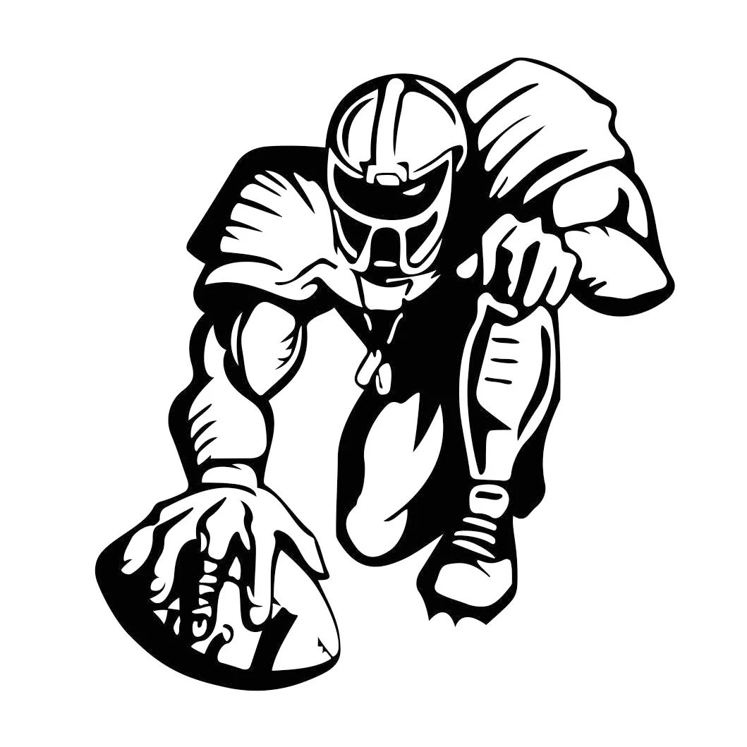 American Football Sports Graphics Svg Dxf Eps Cdr Ai