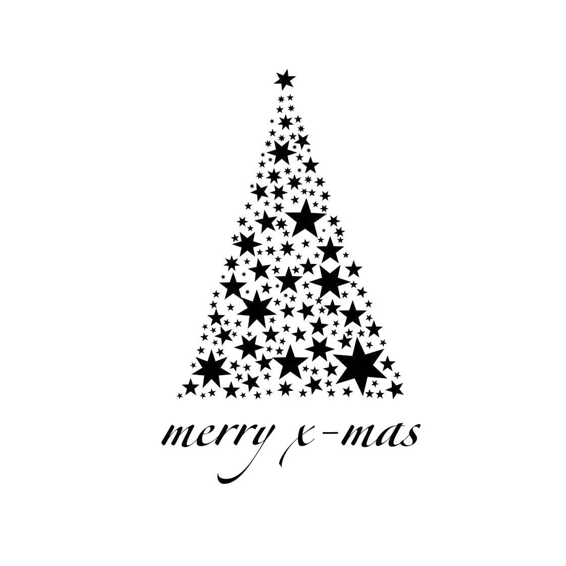Christmas Tree X Mas Star Graphics Svg Dxf Eps Cdr Ai