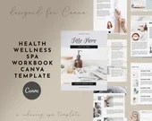 Health Wellness Spa Workbook Canva Template for Massage, Spa, Acuptuncture, Wellness, Health Coaches, with Checklists, Worksheets and eBook