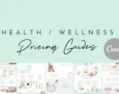 Health/Wellness Pricing Guides Set - Canva Templates - Massage Template | Spa Template | Health Template