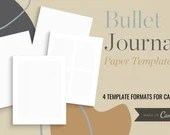Bullet Journal Dotted Paper - 4 Pages with Various Formats - Full Page Bullet Journal Paper, Margin Bullet Journal Paper, Letter Margins