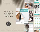 Product Catalog Canva Template for Product Catalogs, Magazines and Media Kits - Shop Catalog Canva Template with 12, 16, and 24-item Pages