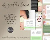 Esthetician Canva Template eBook & Workbook 40-Page Set - Spa, Wellness, Skin Care Template