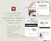 Lady Boss Elementor 12 Landing Page Templates - Elementor Templates | Landing Page for Elementor | WordPress Websites
