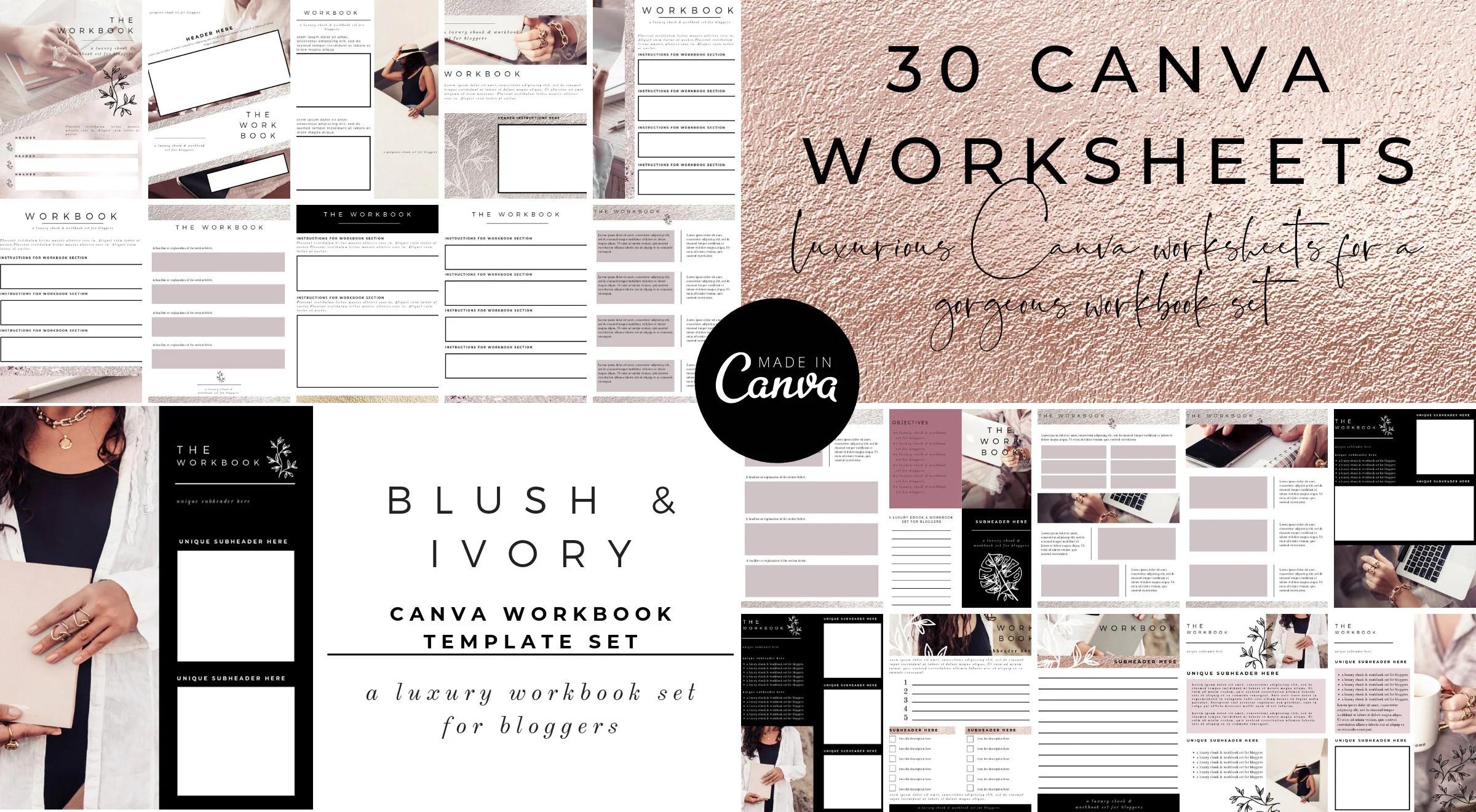 30 Canva Workbook Templates