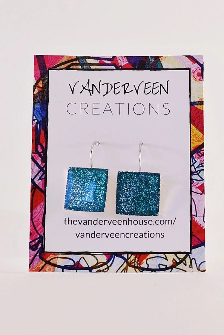 Turquoise glitter silver ...