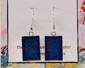 Deep blue glitter rectang...