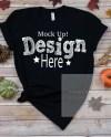 Bella Canvas Unisex 3001 Black Fall T Shirt Mock Up Halloween Etsy