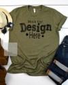 Bella Canvas 3001 Heather Military Green Shirt Mockup T Shirt Etsy