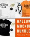 Halloween Shirt Mockup Halloween T Shirt Mockup Bundle Bella Etsy