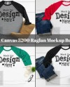 Raglan Shirt Mockup Bundle Bella Canvas 3200 Raglan Mockup Etsy