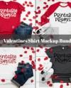 Valentines Shirt Mockup Bundle Mockup Bundle T Shirt Mockup Etsy