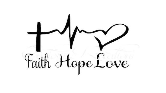 Download Faith_Hope_Love Cross Heart Beat SVG File | Etsy