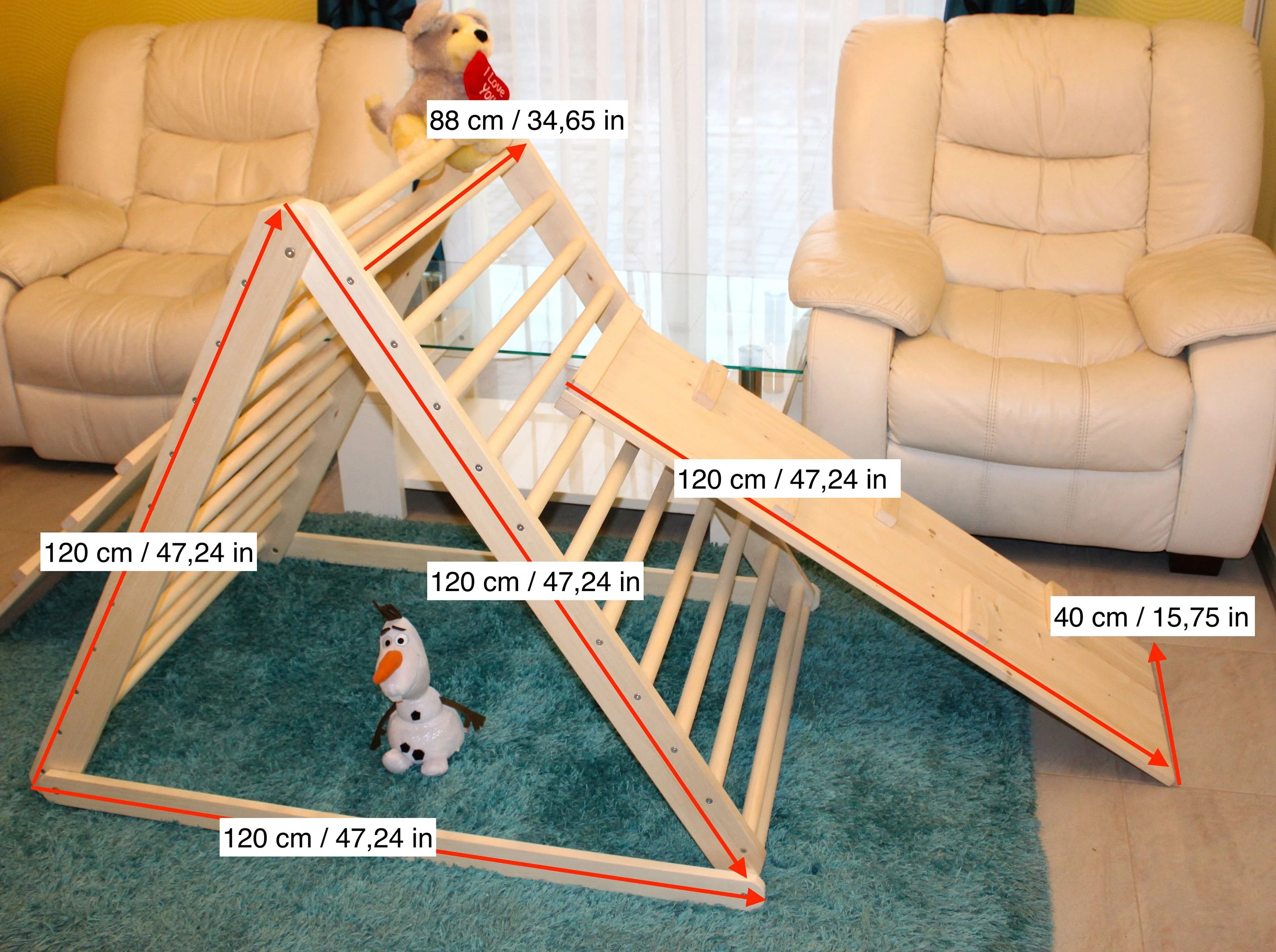 Pikler triangle Climbing triangle Pikler dreieck Baby image 6