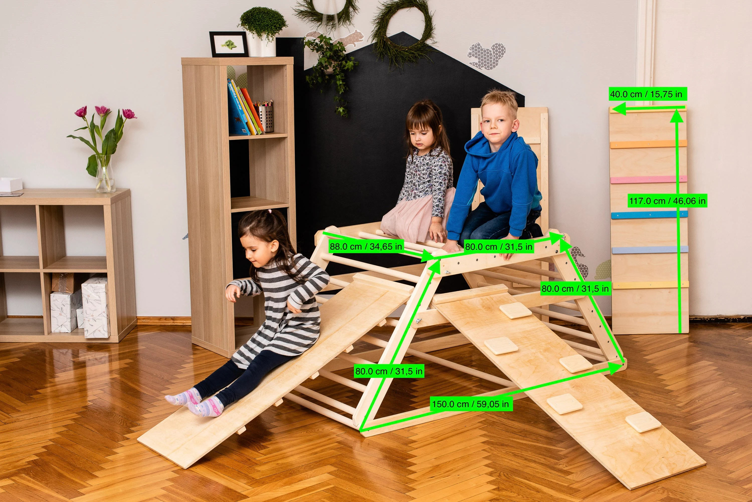 Pikler triangle Step Triangle Climbing ladder for toddler image 6