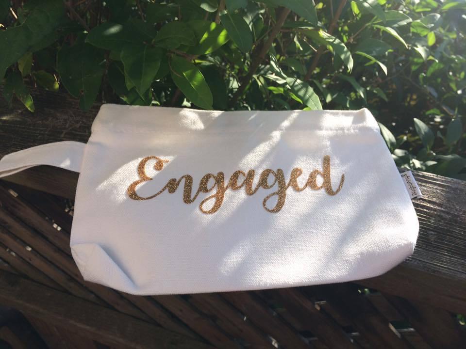 Medium Sized Personalized Cosmetic Bag    Name Wedding Role image 4