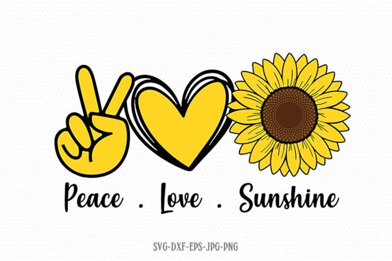 Download Peace love sunshine svg Sunflower svg Peace Love SVG Hand ...