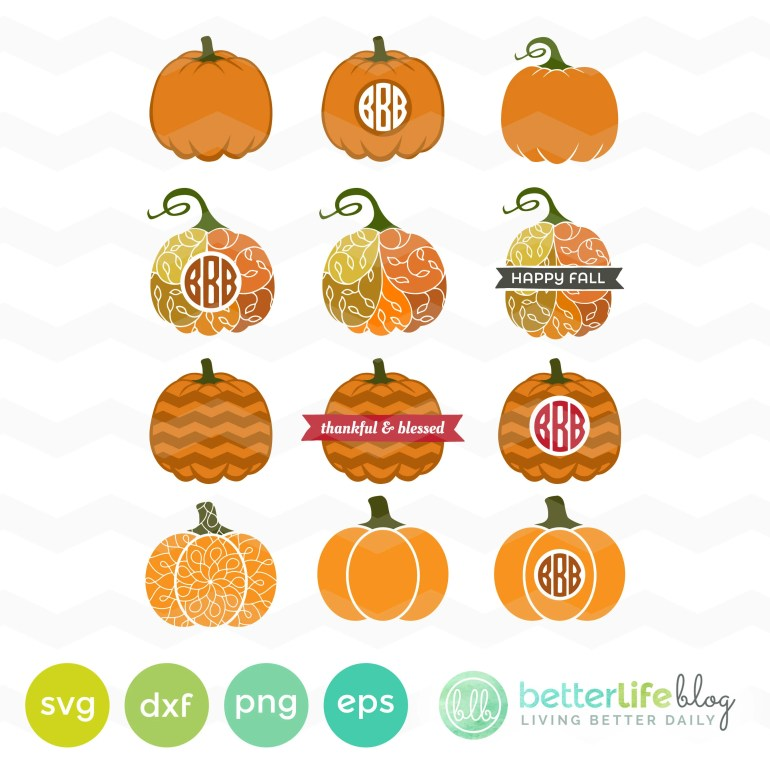 Pumpkins SVG Cut Files: F...