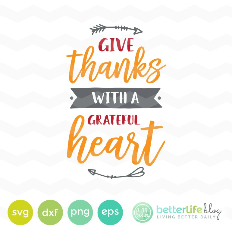Give Thanks SVG File: Giv...