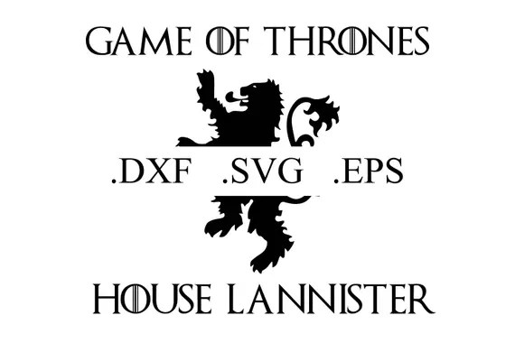 Download Game of Thrones House Lannister Logo Vector Cut File DXF ...
