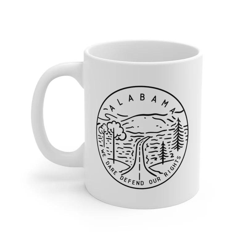 Alabama Mug  State Design White Ceramic Alabama Mug 11oz & image 0