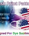 Stars And Stripes Face Mask Covering Digital Design Template Etsy