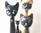 Vintage Pin Club - Elongated Neck Black Cat Enamel Pin Badge