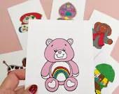 Vintage Retro Toy CARE BEAR Print Postcard Post Card