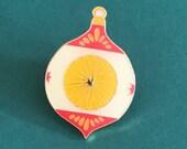 Vintage Pin Club - Christmas Bauble Red Enamel Pin Badge