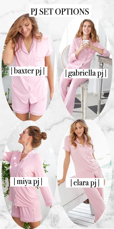 Bridesmaid Pajamas set monogrammed bridesmaid pajamas set of image 6