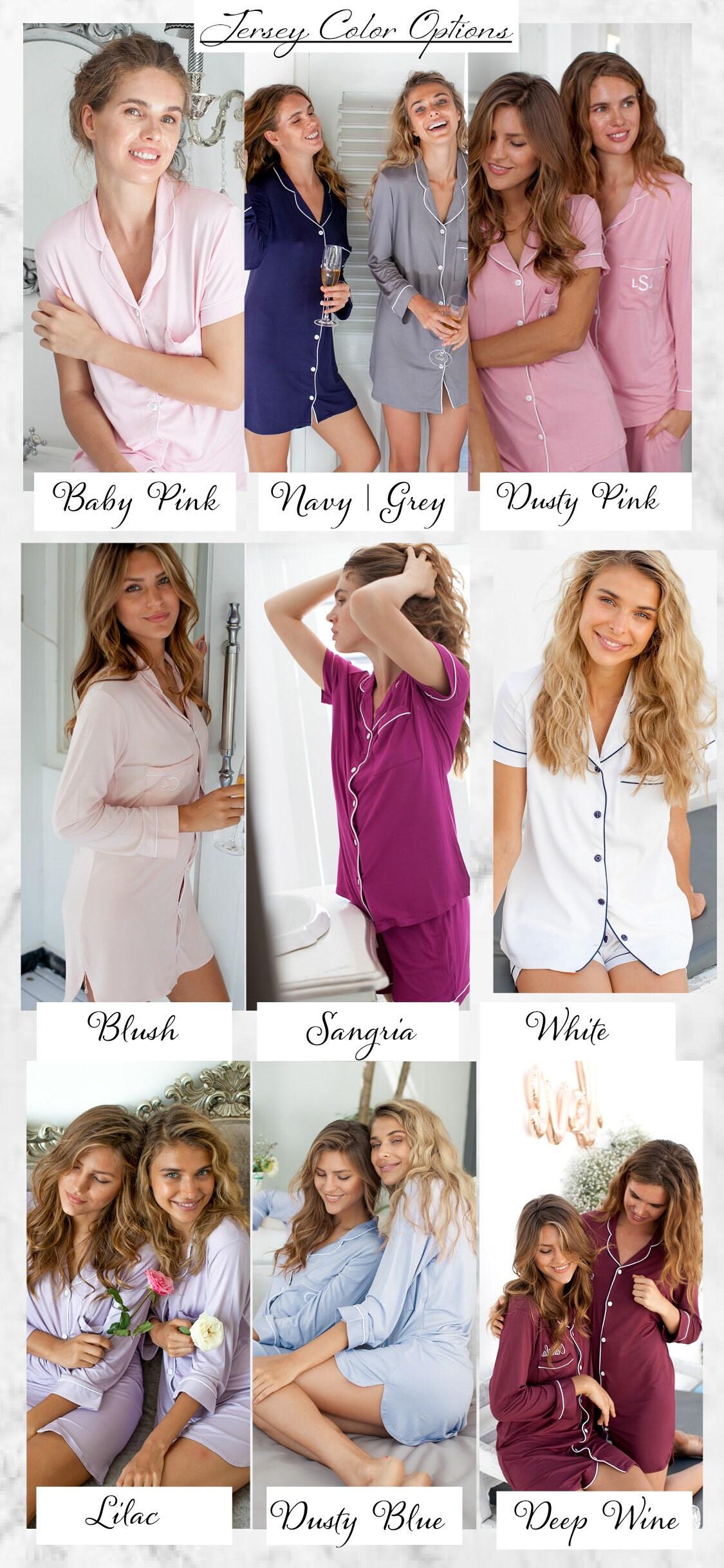 Bridesmaid Pajamas set monogrammed bridesmaid pajamas set of image 5