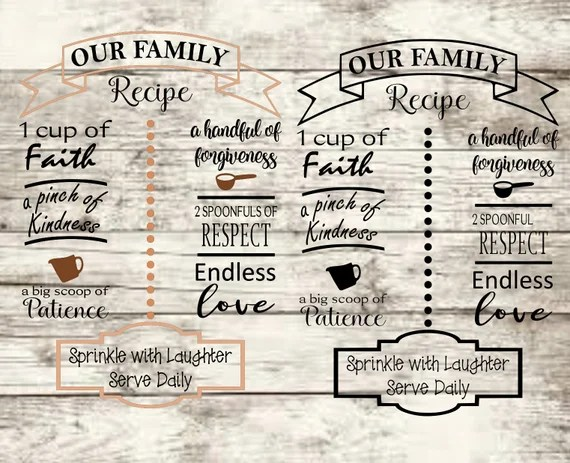 Download Family Recipe SVG | Etsy