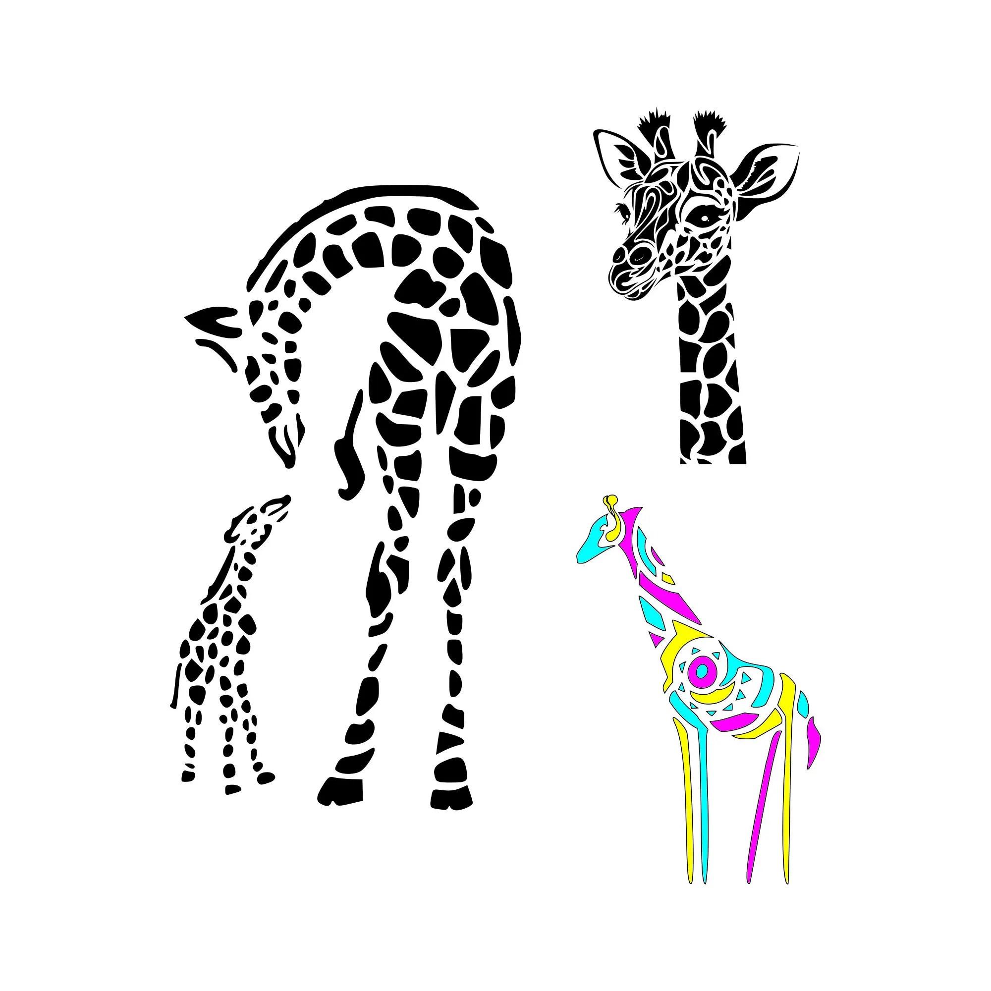 Giraffe Svg Mom And Baby Giraffe Svg Giraffe Print Svg