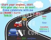 Cars Themed Birthday Party Invitation, boy birthday party, cars birthday, kids birthday party