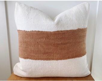 rust linen pillow etsy